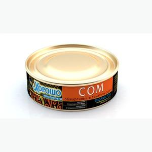 Сом обжаренный в томатном соусе (консервы)