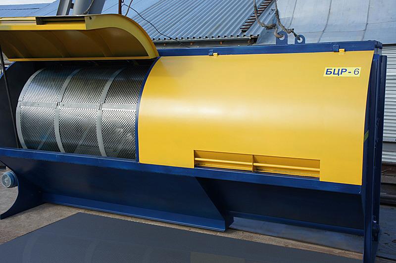 Ворохоочиститель с цилиндрическим решетом БЦР-6
